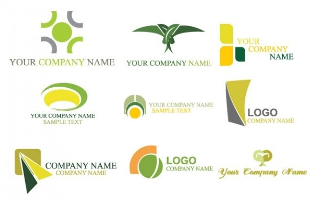 logos your company name vector free download