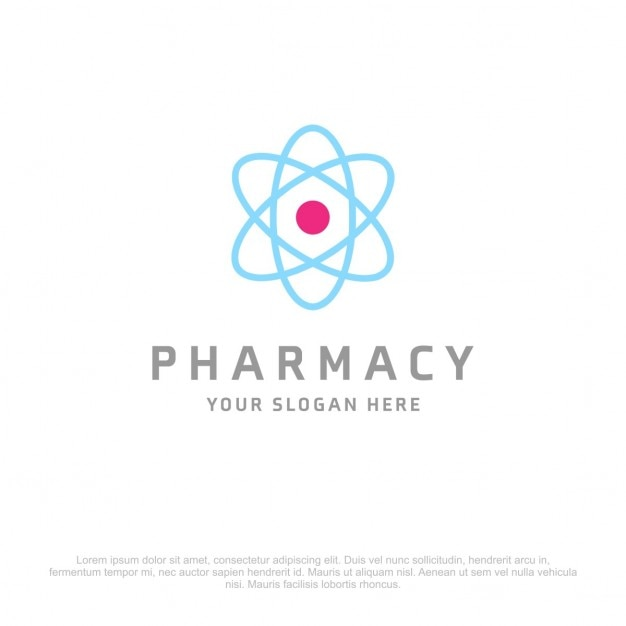 Atom фармация logo Бесплатные векторы