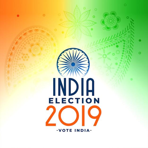 インドの一般loksabha選挙の概念設計 無料ベクター