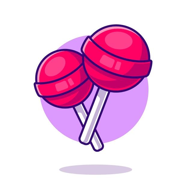 롤리팝 사탕 만화 아이콘 그림입니다. 무료 벡터