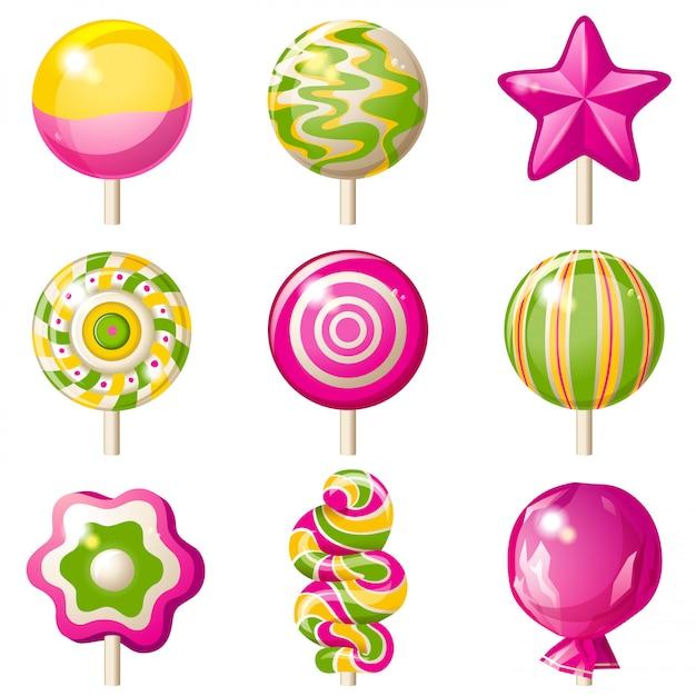 Lollipops set Premium Vector
