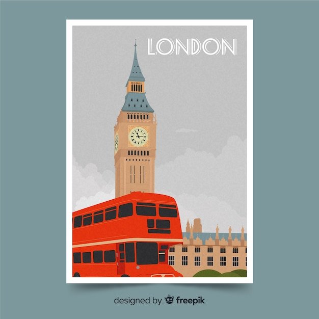London background with big ben Free Vector