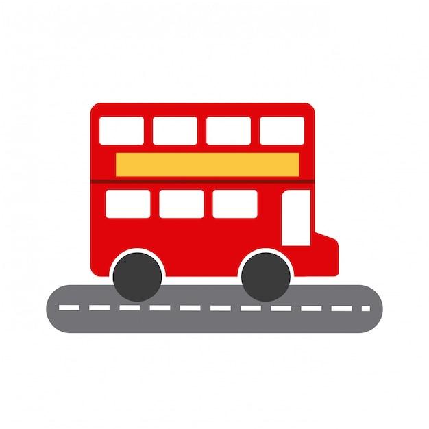 London bus Premium Vector