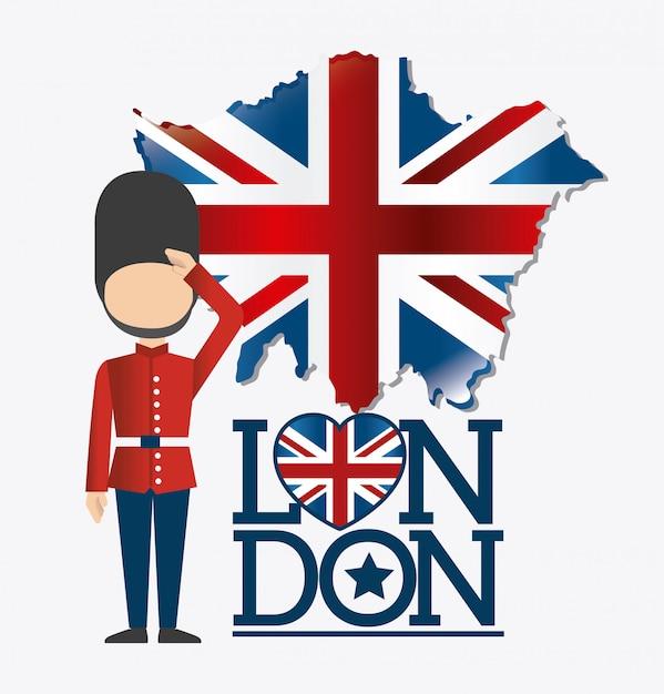 London design. Premium Vector