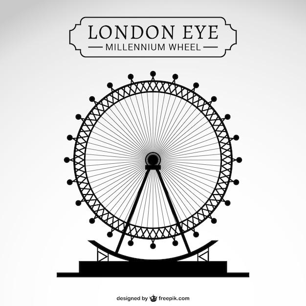 London Eye Design Free Vector