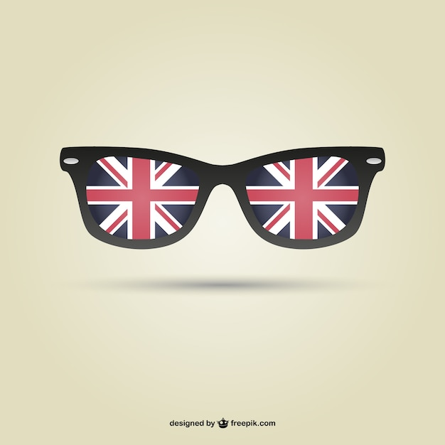 Top London flag glasses vector Vector | Free Download HC94