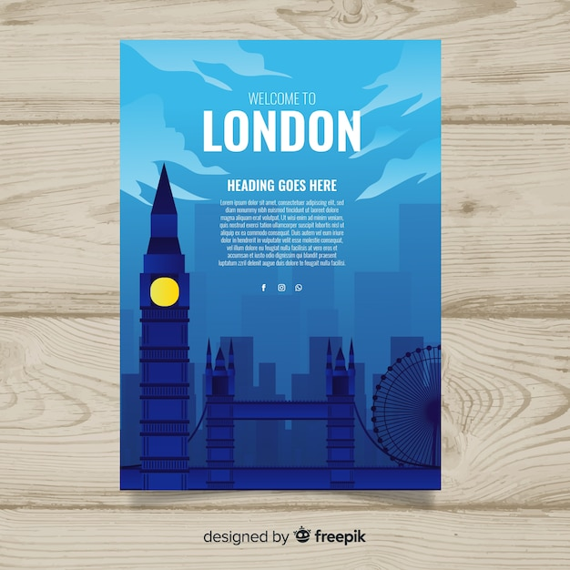 London flyer Free Vector