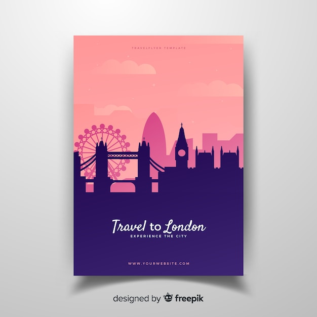 London flyer Free Vector