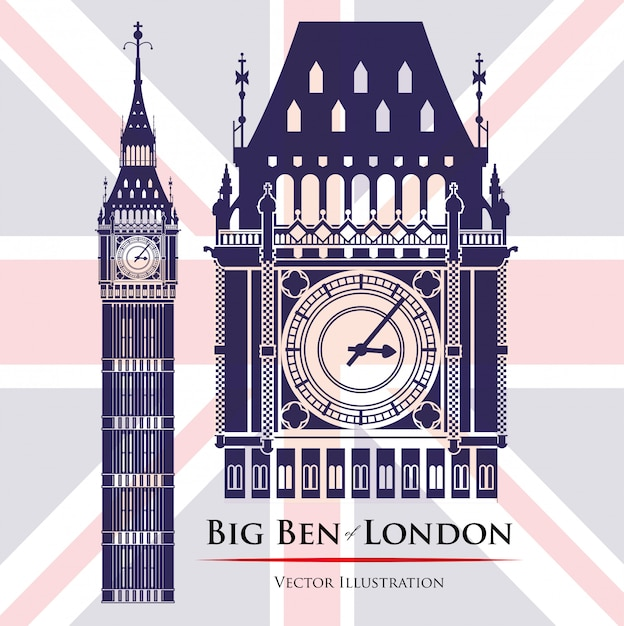 London landmarks design Premium Vector