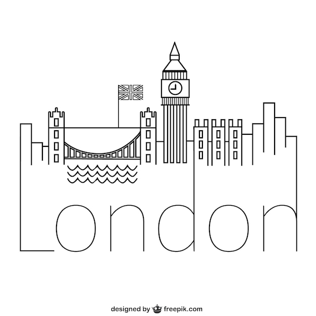 Line Drawing Tattoos London : London logo vector free download