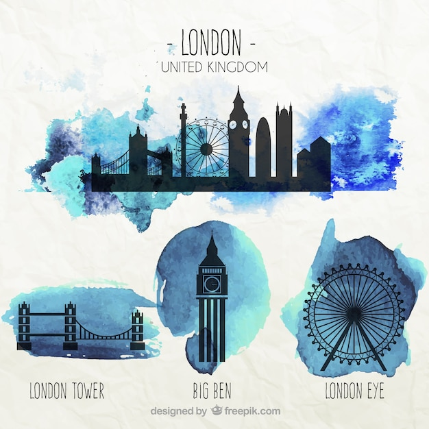 London monuments Free Vector