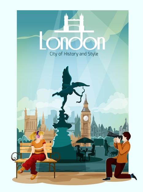 London poster illustration Free Vector
