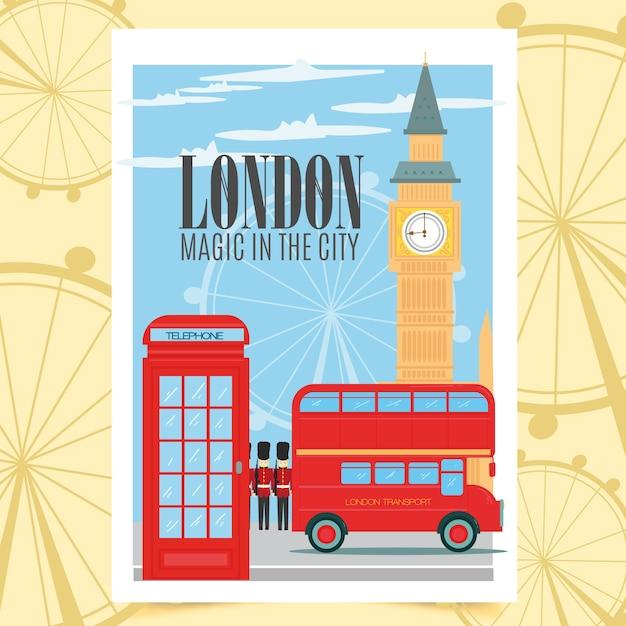 Poster di londra Vettore gratuito