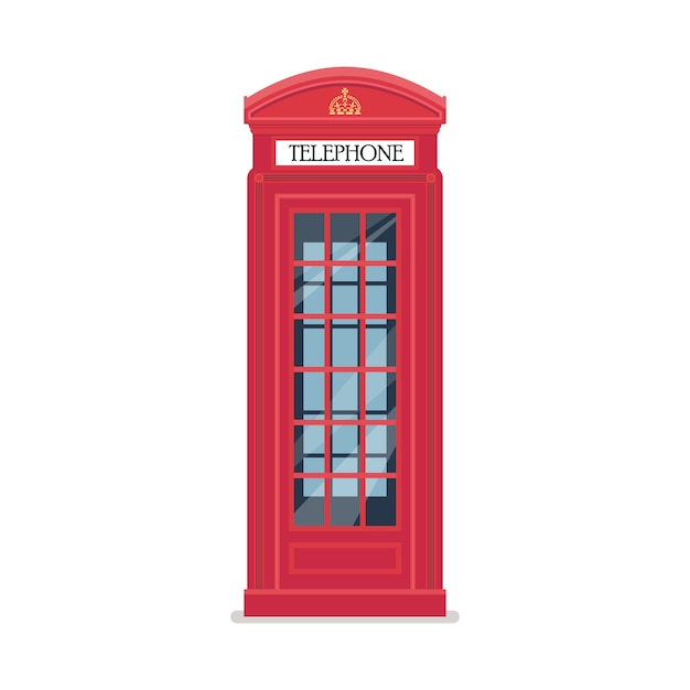 London red telephone booth Premium Vector