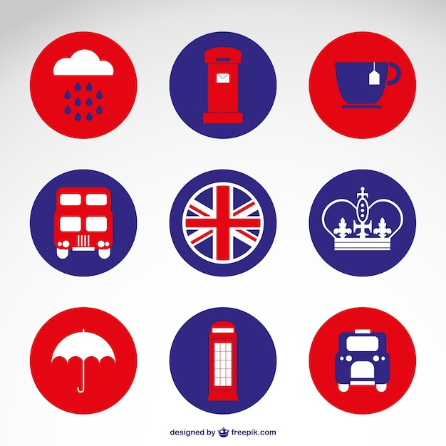 London round badges Free Vector