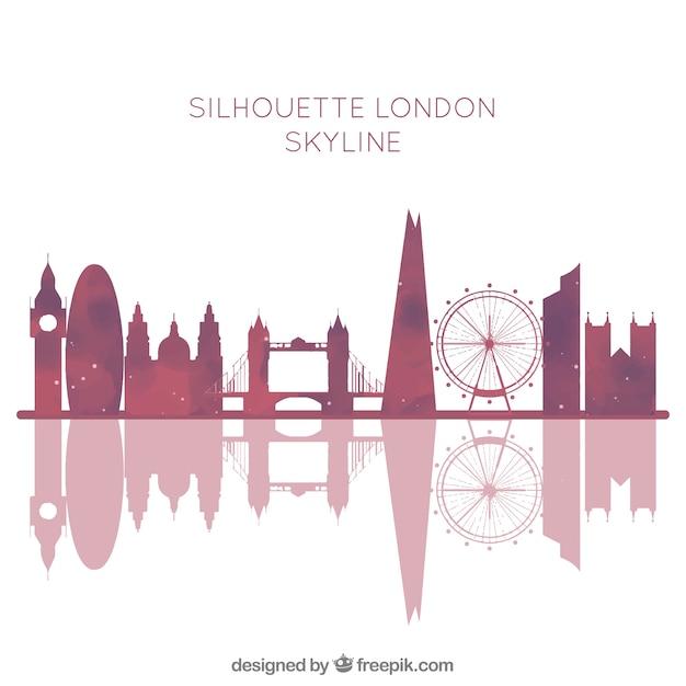 London Skyline Background Free Vector