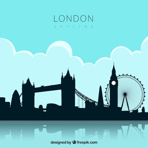 London skyline design Free Vector