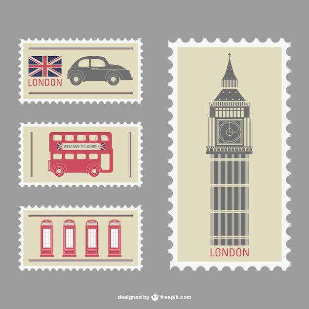 Лондон векторные штампы Premium векторы