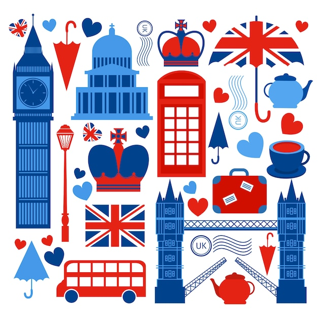 London symbols collection Free Vector