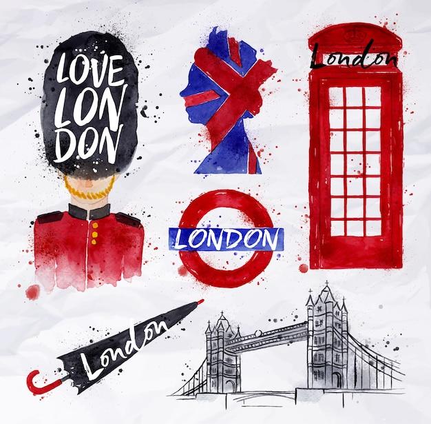 London symbols Premium Vector