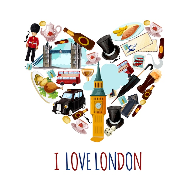 London touristic poster Free Vector