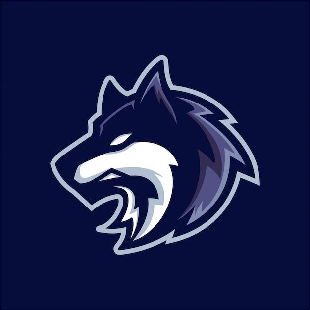 lone wolf logo vector premium