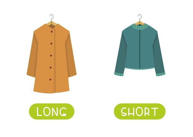 Long and short clothes Premium Vector