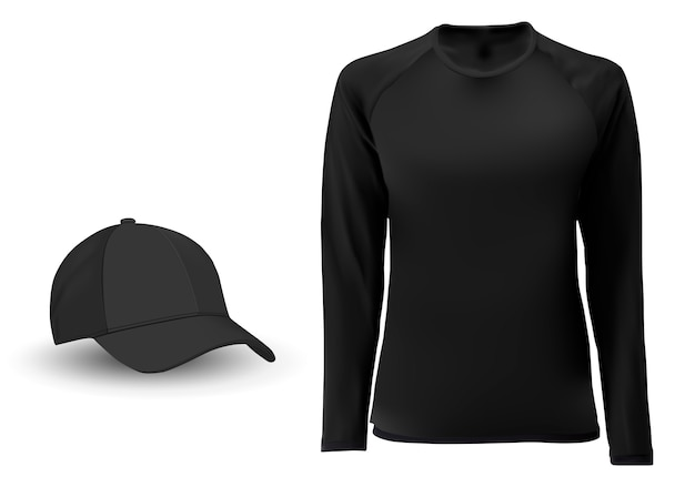 Long sleeve tshirt blank Premium Vector