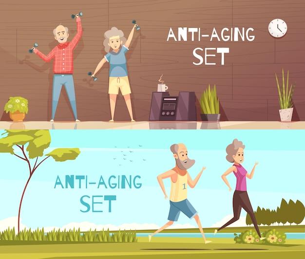 Longevity horizontal illustration Free Vector