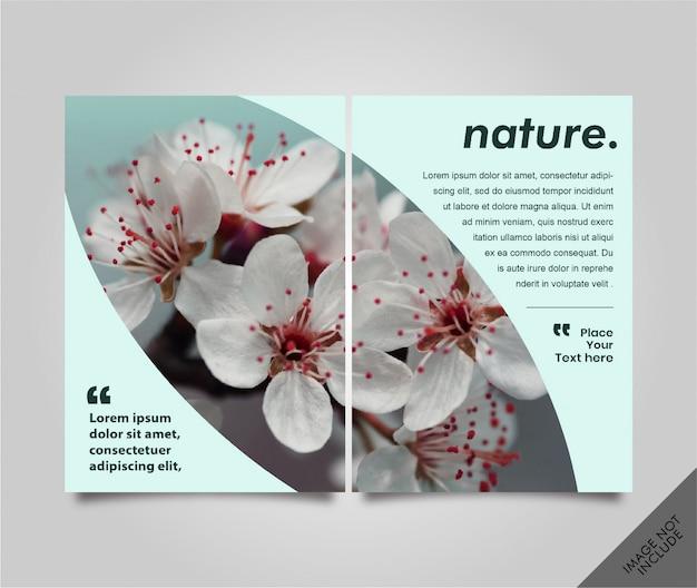 Lookbook flyer natureシームレスページ Premiumベクター