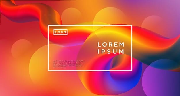 Loop gradient purple orange abstract background Premium Vector