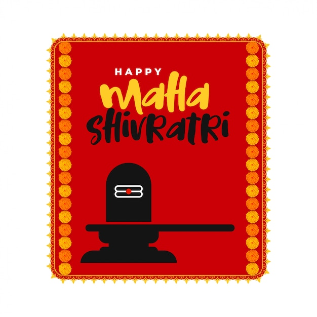 Lord shiva idol maha shivratri background Free Vector