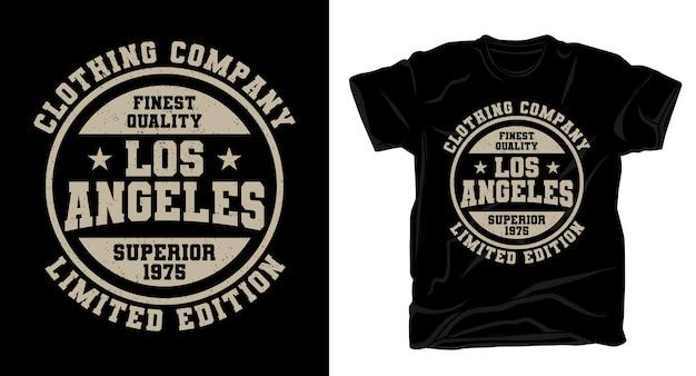 Лос-анджелесская компания по производству одежды типография дизайн футболки Premium векторы