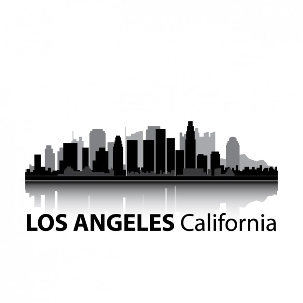 los angeles skyline design vector free download