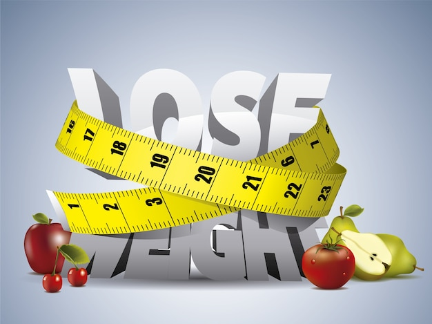 Free Vector | Lose weight background