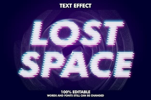 Потерянный текст, современный текстовый эффект Бесплатные векторы