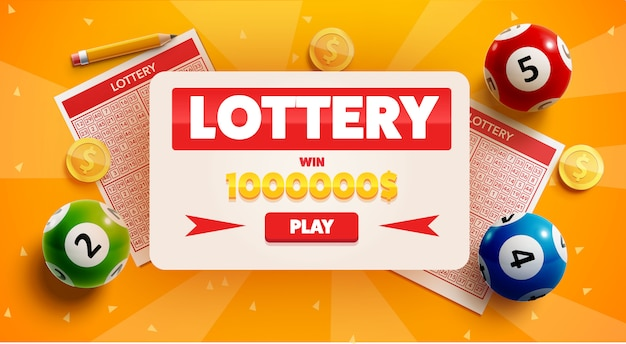 Lottery background with place for text Premium Vector