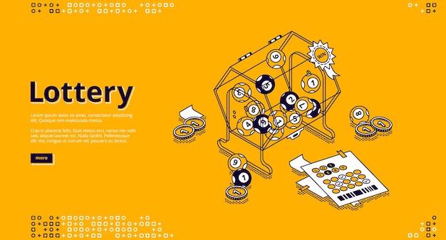 Изометрическая целевая страница лотереи Бесплатные векторы