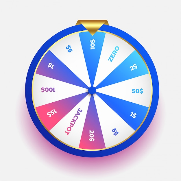 Lottery luck wheel of fortune design Free Vector