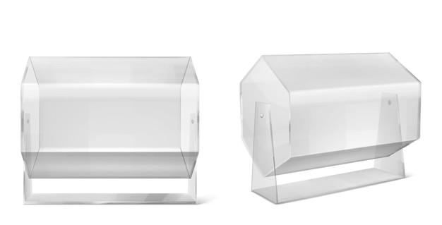 Macchina della lotteria, tamburo della lotteria trasparente isolato su bianco Vettore gratuito