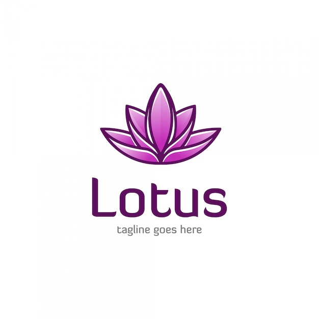 Lotus flower logo design Premium Vector