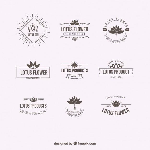 Lotus flower logos Free Vector