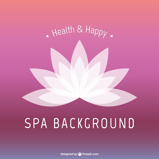 Lotus Flower Spa Background Vector Free Download