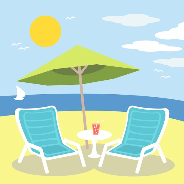 Lounge chairs Free Vector