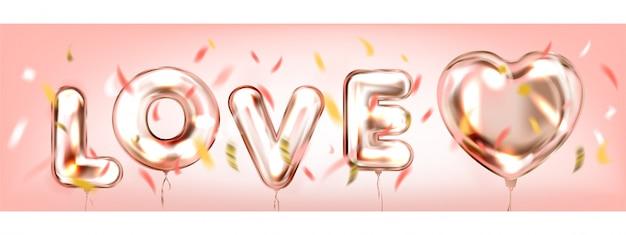 Love in a air pink romantic Premium Vector