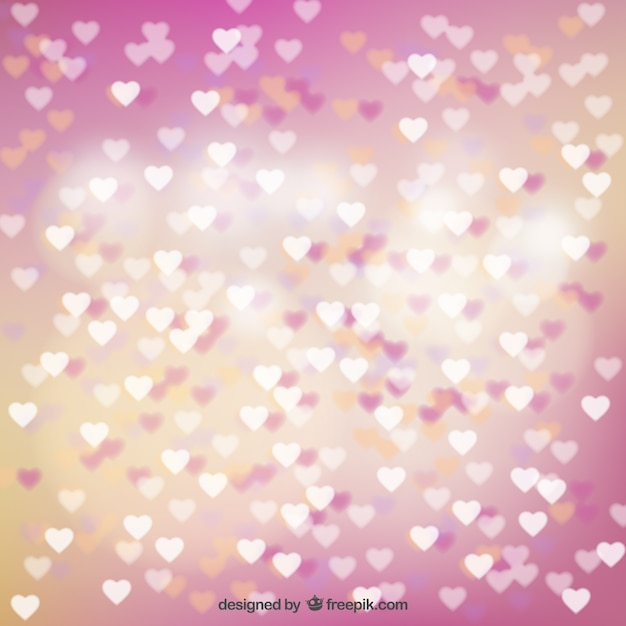 Love background full of little hearts Free Vector