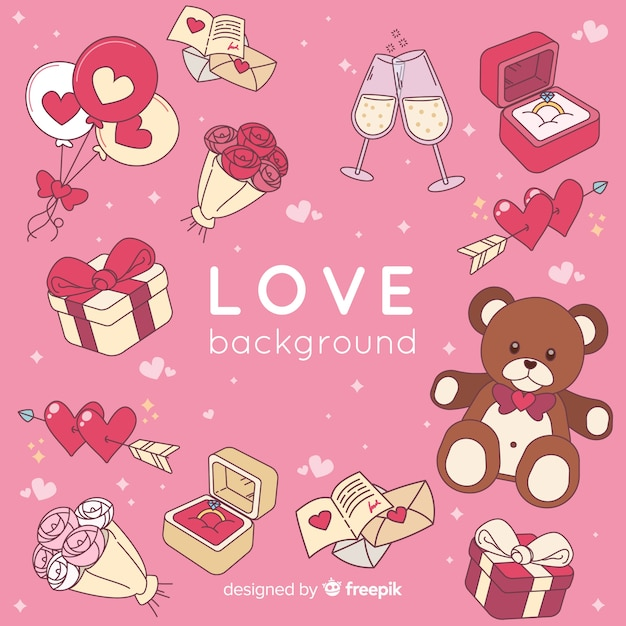 Love background Free Vector
