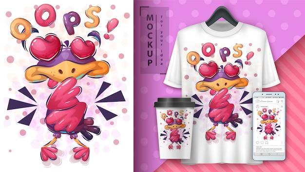 Love bird poster e merchandising Vettore gratuito