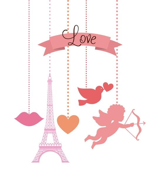 Premium Vector   Love card design