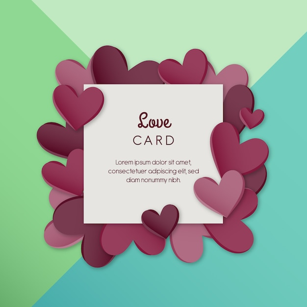 Love card Free Vector